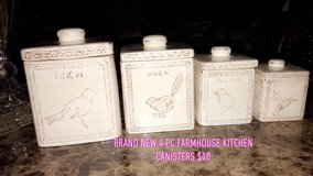farmhouse 4pc kitchen canisters in Bolingbrook, Illinois