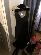 Victorian Era black beaded dress w/xtras in Conroe, Texas