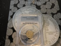 1916 thru 1945 set mercury dimes  including slabbed 1921d by pcgs ao 3 in Clarksville, Tennessee