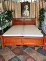 King size Hard wood Sleigh Bed with boxsprings in Fort Campbell, Kentucky