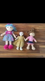 Lot of 3 plush/ fabric dolls $5 for all in Bolingbrook, Illinois