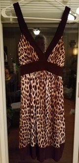 Juniors cheetah print dress size Medium in Fort Campbell, Kentucky