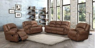 United Furniture - Lodge Recliner Set - Sofa + Loveseat + Chair including delivery - Rocker also. in Wiesbaden, GE