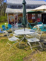 antique wrought iron patio set in Cherry Point, North Carolina