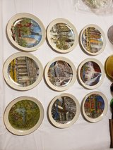 set of 9 Franklin McMahon Chicago Collection Plates in Lockport, Illinois