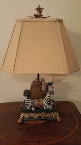 REALLY UNIQUE ZEBRA ACCENT TABLE LAMP. ALL HAND PAINTED in Kingwood, Texas