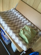 Folding table, changing pad and covers in Okinawa, Japan