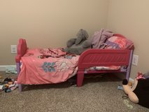 Toddler bed with mattress and comforter set in Fort Campbell, Kentucky