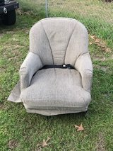 "RV Furniture swivel chair with mount. no rips, stains, or smells. Chair is 36"" tall by 27"" wide in Byron, Georgia"