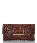 ***BRAHMIN Luxury Melbourne Collection Crocodile-Embossed Soft Checkbook Wallet** in The Woodlands, Texas