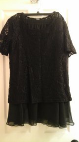 Womens  Lace Black Blouse and Black Skirt Evening Wear Size 14 New with Tags! in Naperville, Illinois
