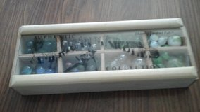 88 Marbles Collection  in Wooden Tray in Oswego, Illinois