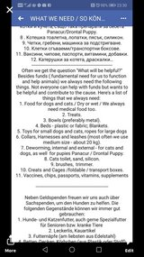 **Wanted:  cat and dog supplies** in Ramstein, Germany