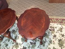 Two solid wood end tables in Conroe, Texas