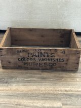 Vintage Benjamin Moore & Co Wood Crate in Clarksville, Tennessee
