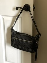 Black Canvas and Leather Coach Bag in Fort Campbell, Kentucky