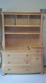 Dresser/changing table with hutch in Naperville, Illinois