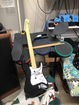 Wii Rock band Drum set and wireless wii guitar for guitar hero in Camp Lejeune, North Carolina