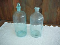 Beautiful set of 2 antique blue glass bottles in 29 Palms, California