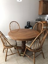 Oak Dining Table w/ 4 Chairs in Fort Campbell, Kentucky