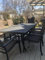: ) Patio Set Large Table & 6 Chairs in Naperville, Illinois