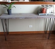 Rustic 5ft wise hairpin leg table in Naperville, Illinois