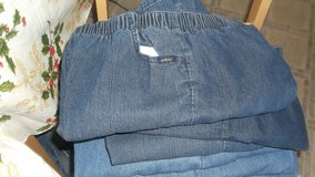 6 pair of woman's size 16p chic jeans in Alamogordo, New Mexico