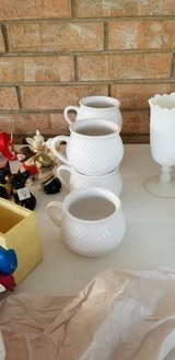 Milk glass & Soup cups in Fort Polk, Louisiana