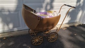 Antique Wicker Baby Carriage in Quantico, Virginia