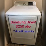Samsung Dryer!  Huge 7.4 cu ft, electric, sensor. Great condition! in Fort Lewis, Washington