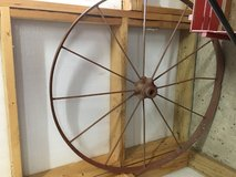 Antique wagon wheel in Clarksville, Tennessee