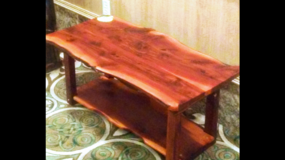 Cedar wood coffee table in Spring, Texas