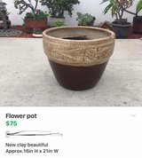 New clay flower pot in Fairfield, California