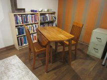 Kitchen/Breakfast Nook Table (Drop Leaf) + 2 chairs in Chicago, Illinois