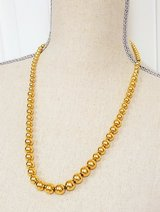 "Vintage Napier 24"" Gold Tone Necklace Strand Chain Pendant Bead in Kingwood, Texas"