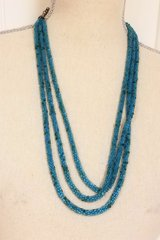 Blue Turquoise Snake Scales Necklace Multi Strand Chain Pendant Bead in Kingwood, Texas