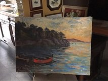 vintage painting boat from France in Ramstein, Germany