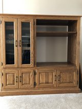 Solid Oak Entertainment Center in Glendale Heights, Illinois