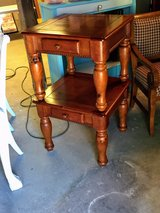 pair solid wood nightstand/ end tables in Camp Lejeune, North Carolina