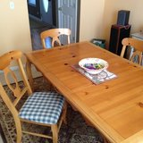 Pine Table and Chair Set From Wickes in Naperville, Illinois