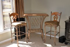 Table with wine rack and chairs in Naperville, Illinois