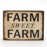 "Wooden Sign Home Decor Plaque ""Farm Sweet Farm"" Desk or Counter Mount 3""x4"" in Naperville, Illinois"