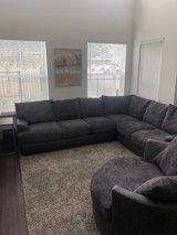 Large Sectional with Round Cuddle Chair in Spring, Texas
