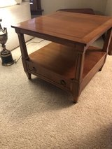 2 Square Wood End Tables in Aurora, Illinois