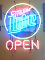 MILLER LITE NEON SIGN in Fort Polk, Louisiana