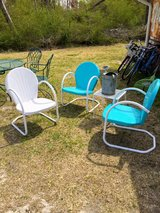 4 pieces of vintage patio furniture in Cherry Point, North Carolina