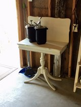 antique chalk painted rotating top table in Cherry Point, North Carolina