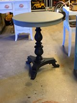 antique chalk painted entryway table in Cherry Point, North Carolina