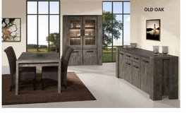 United Furniture - Silver City Dining Set in Old Oak - China +Table +4 x Chairs + Delivery in Wiesbaden, GE