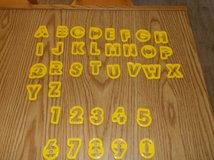 36 piece Alphabet & Number Cookie Cutters in Chicago, Illinois